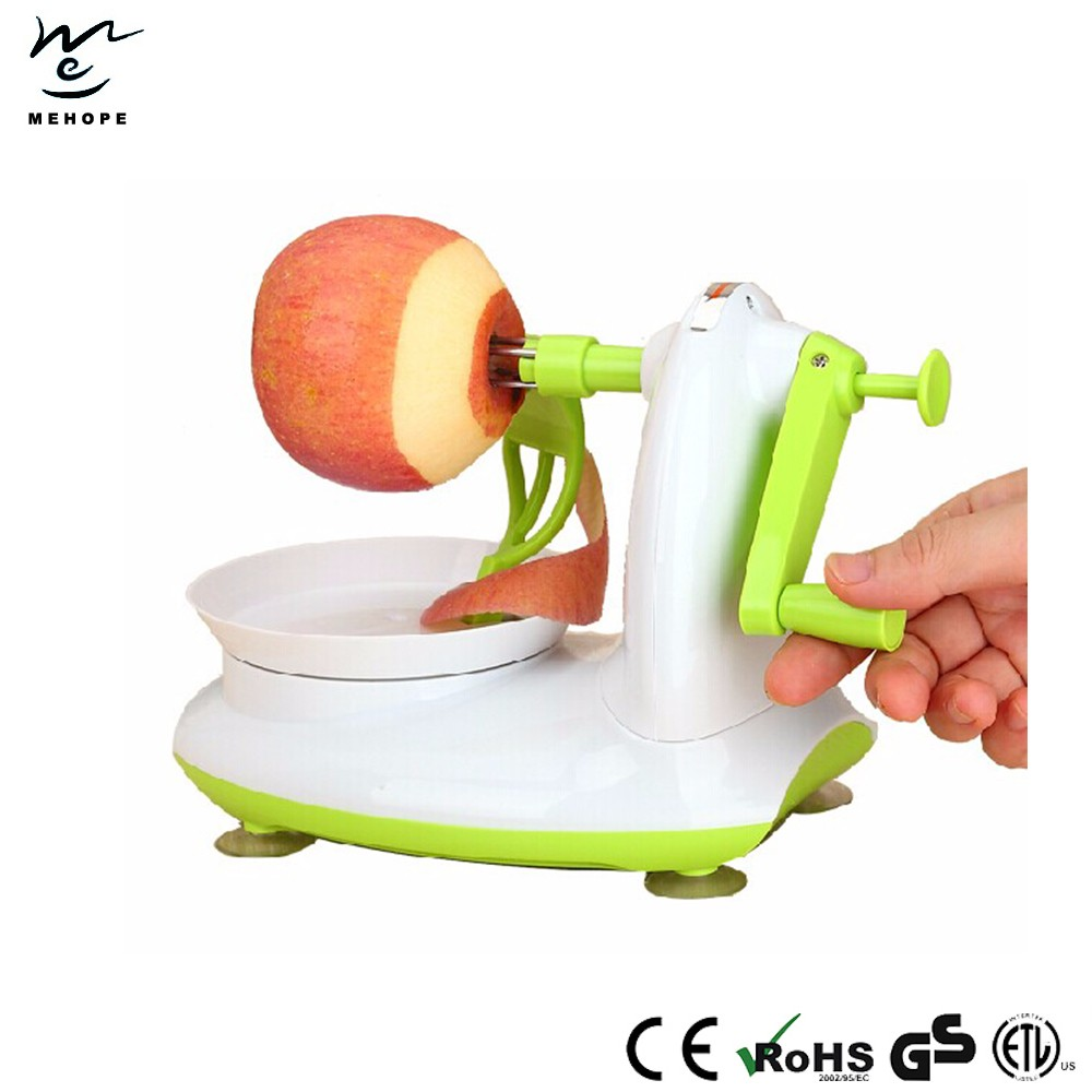Commercial electric apple peeler corer slicer, apple peeler