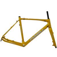 Cyclocross version carbon fiber road bike frame with disc-brake mount