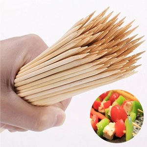 China round meat bamboo sticks bamboo skewer for barbecue using