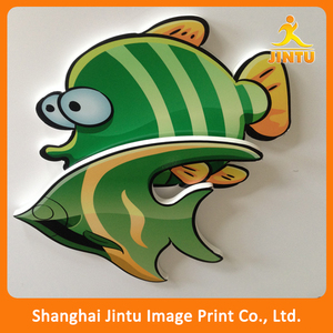 Outdoor Advertising Sign / Fish Sign PVC Celuka Boards/ Die Cut Foam Core Sheet
