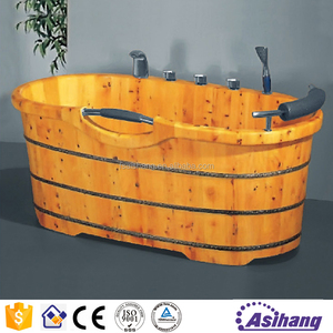good price mini bathroom luxury cedar wood bathtub