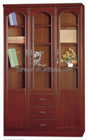 executive wooden glass door filling cabinet