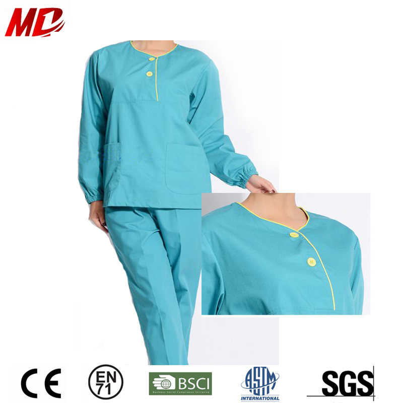 Green Medical Uniforms Reina Scrubs Set with Pockets for Nurse