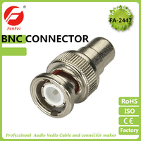 High quality bnc male to pal male metal connector