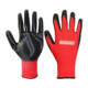 13G Polyester Red Shell Oil Resistant Hand Safe Palm Coating Nitrile Gloves