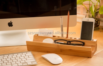 High Quality Wood Office Desk Organizer Accessories