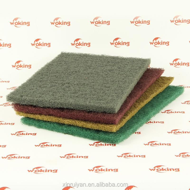 Abrasive Nylon Cleaning Scouring Pad Industrial Metal Polishing Fiber Surface Cleaning Non Woven Roll