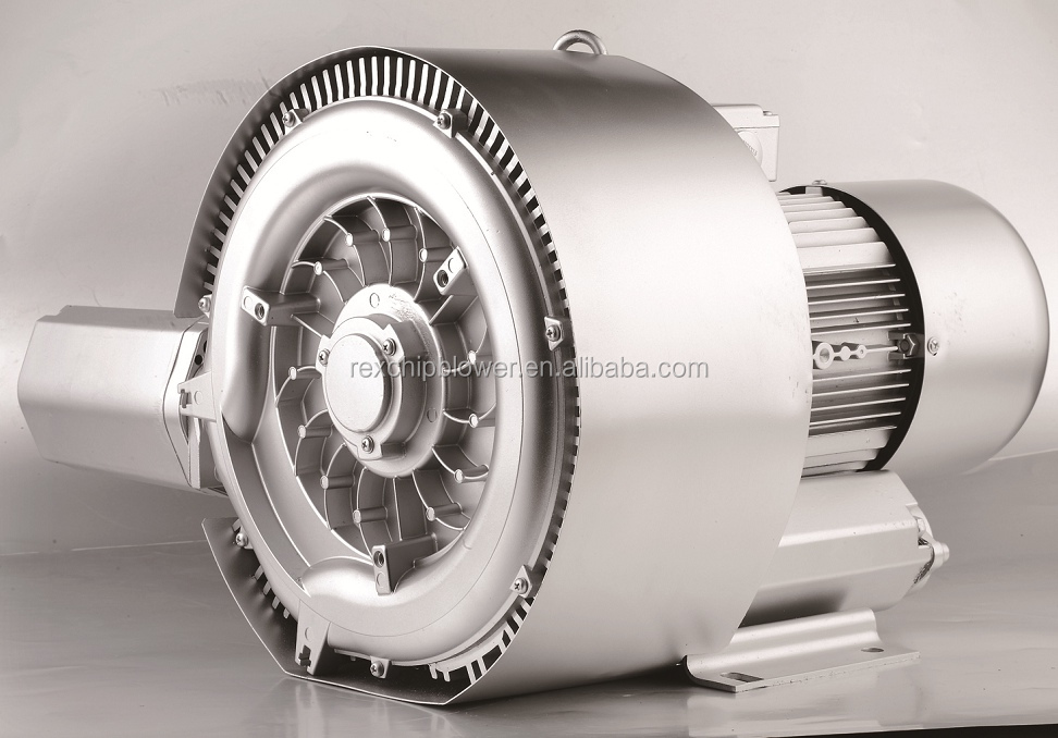 1.6kw 2HP High capacity side channel ring blower for Industrial vacuum cleaners central extraction systems