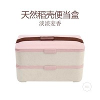 New Products Cheap Promotional Portable Biodegradable Tiffin Lunch Box Plastic With Cutlery