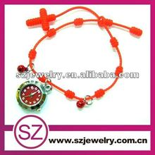 SI5 orange bracelet with cross silicone watch 2012