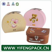 Mini paper cardboard suitcase boxes, paper packing box, suitcase gift box