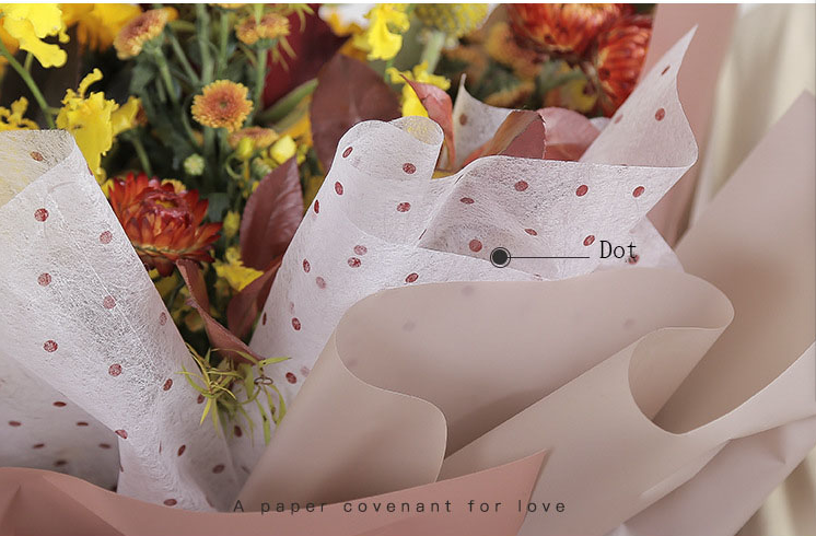 Flower Wrapping Paper Waterproof Dot Wedding Decoration Paper Non-woven Florist Bouquet Supplies Inside Lining Paper