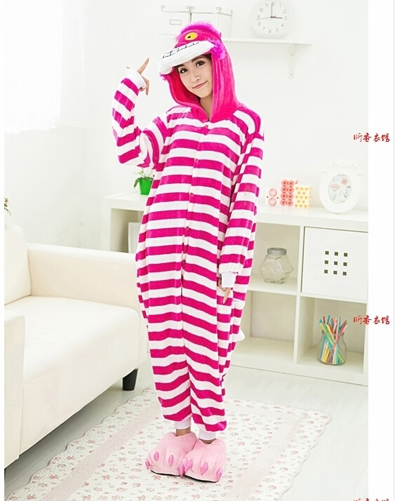 Get Quotations · Free Shipping Winter New Sleepsuit Adults spring and  autumn Cartoon Cheshire Cat Onesies Unisex Onesies Pajamas 603ff9fdc