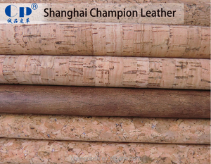 PVC Artificial Natural Cork Leather Fabric For Lady Leather Shoe