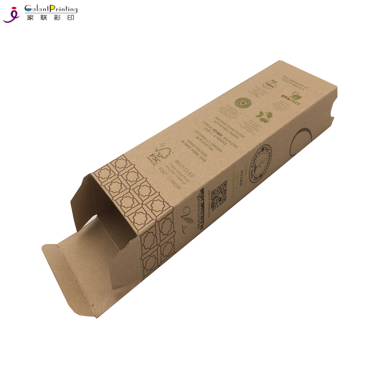 Mini Soap Packaging Die Cut Brown Kraft Paper Boxes with Custom Brand