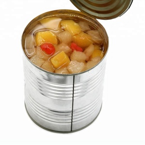 Canned fruit cocktail/mixed fruits in light syrup or in heavy syrup in tins canned fruit china origin OEM brand for decoration