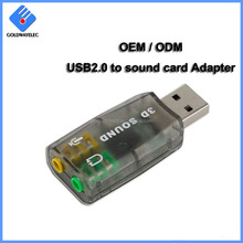 Factory Wholesale high speed drive free virtual 7.1 channel 3d sound card usb driver