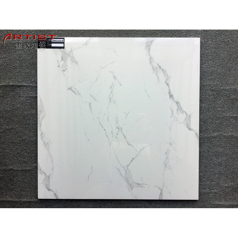 600x600mm Architecture kitchen decorative imitation white marble <strong>tile</strong>