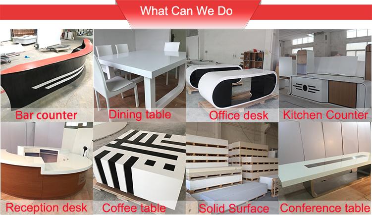 Modern Marble Top Half Round Home Bar Counter Kitchen Cabinet Island Bench Set
