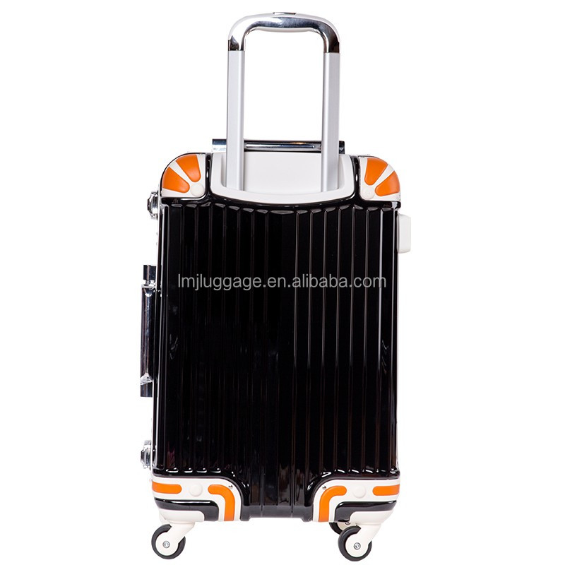 ABS+PC China Supplier yellow luggage sets with TSA code lock Factory Price Hard case Hot Sale