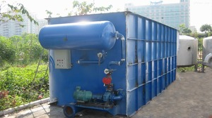laundry wastewater treatment facilities DAF Dissolved air flotation plant device