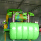 2017 newest green coconut tree slide / dry inflatable slide wholesale price slide zip lock plastic bag