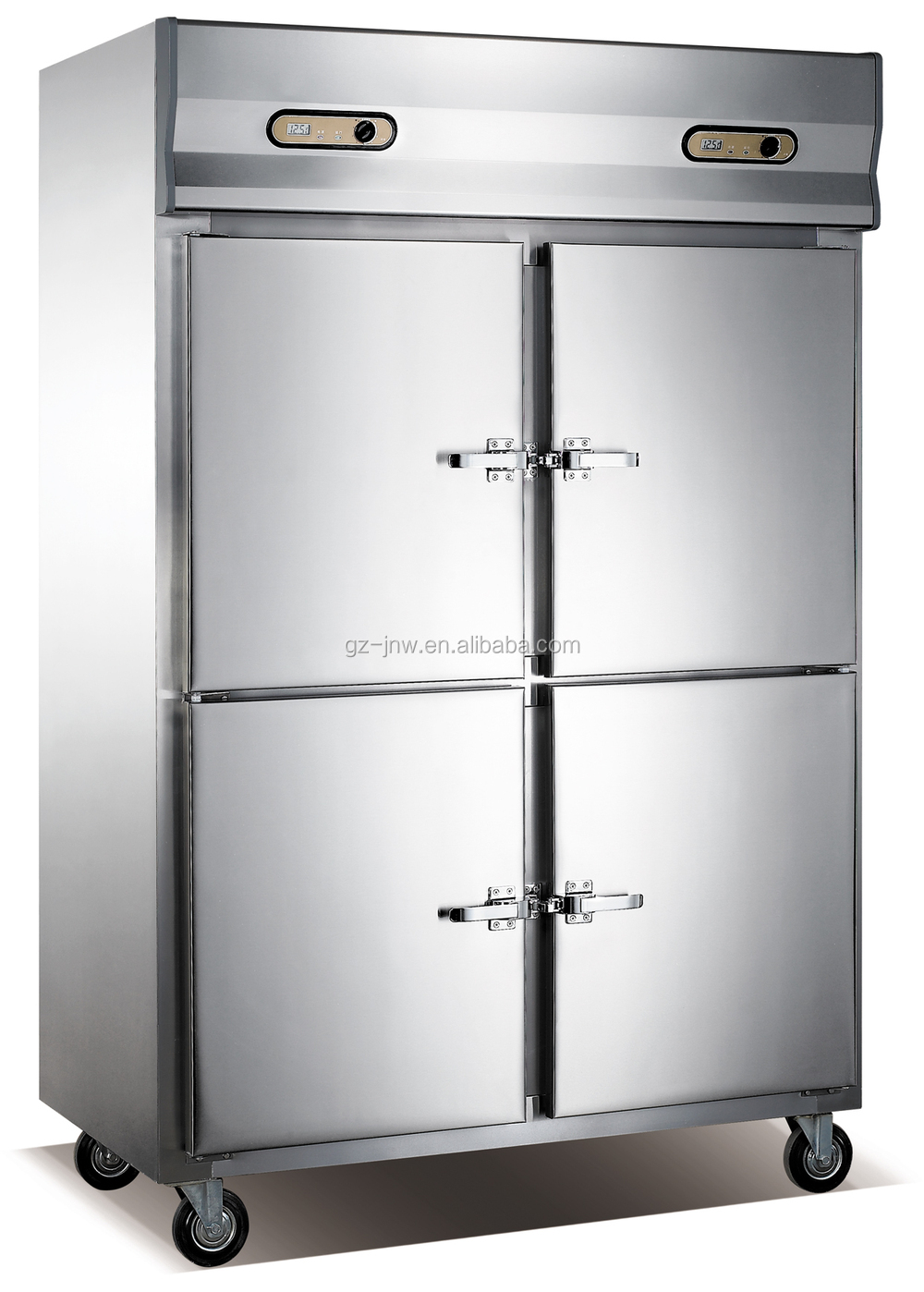 Restaurant Kitchen Stainless Steel 4 Door Freezer Commercial Side By Side Refrigerator Freezer