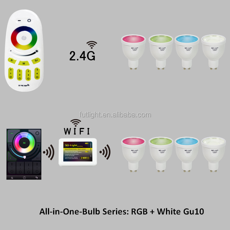 Unique Design Bulb Led Gu10 63mm 4w Led Light Bulb 230volt 2.4g Rf ...