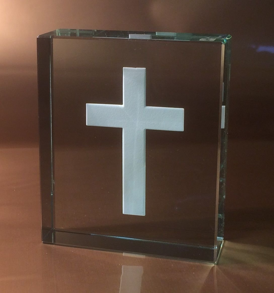 Spaceform Glass Cross Token Gift Ideas Christening Wedding Confirmation
