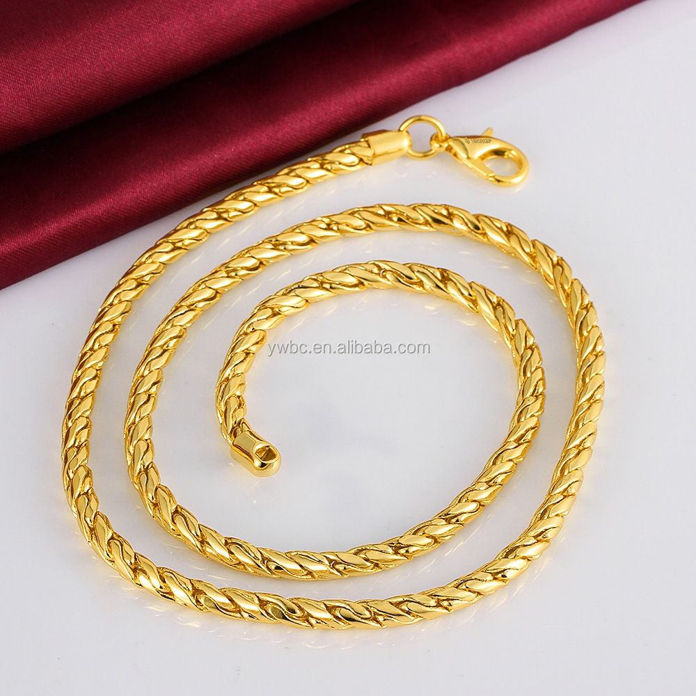 fashion men chains real online chain product trendy for necklace store new plated jewelry wholesale gold