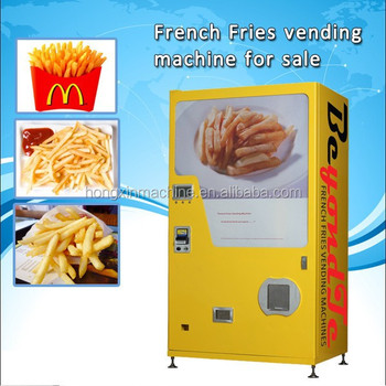 Hot Sale French Fries Vending Machine Hot Food Vending ...