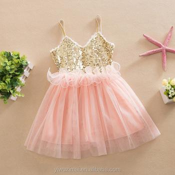 fbad840527ec Pink Girls Boutique Dresses Sequin Summer Frock Design Princess ...
