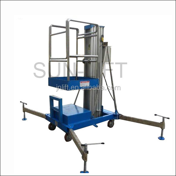 Mobile Hydraulic Lifts : Mobile portable hydraulic lift for painting vertical