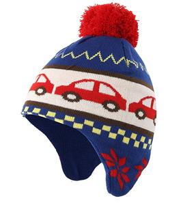 d0c31e9d597 Baby Toddler Boys Winter Skull Cap Cotton Earflap Beanie Kids Knitted Hat
