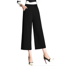 Hot sale OEM service <strong>women</strong> wide leg <strong>pants</strong> loose elastic waist linen fabric <strong>women's</strong> casual <strong>pants</strong> <strong>trousers</strong>