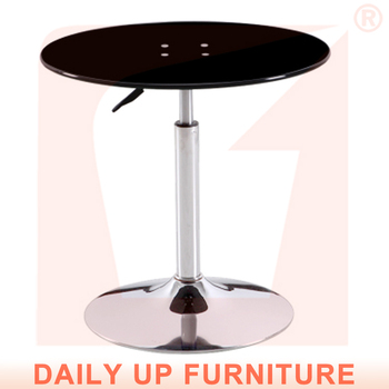 Pleasant Promote 2016 Modern Design Glass Dining Table Height Adjustable Round Dining Table And Chair Electroplate Frame Base For Sale Buy Glass Dining Table Gmtry Best Dining Table And Chair Ideas Images Gmtryco
