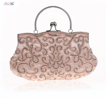 Old School Clutch Bag Vintage Sequins   Beads Clutch Handbag ... 4a1689fd3ecf