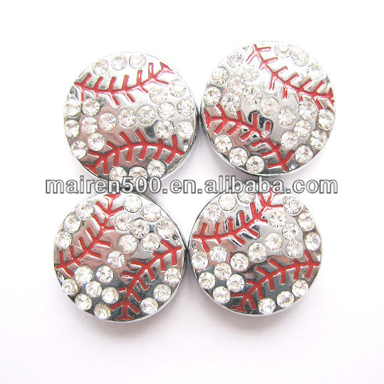 Free shipping 8mm rhinestone baseball slide beads (JS-002)