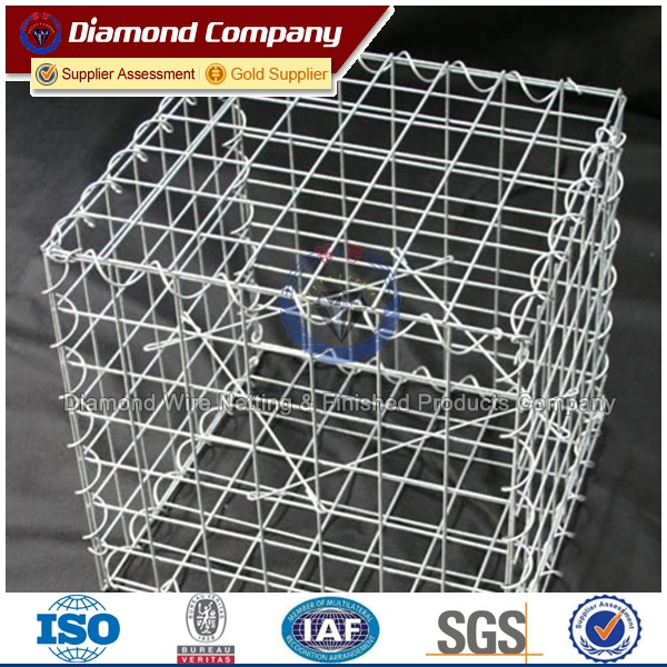 Square Wire Mesh Welded Gabion Box for Retaining Wall