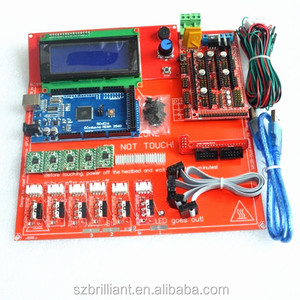 Reprap Ramps 1.4 Kit With Mega 2560 r3 + Heatbed mk2b + 2004 LCD Controller + A4988 Driver + Endstops + Cables For 3D Printer