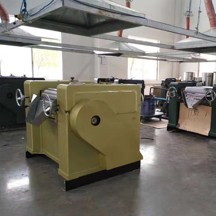 Printing ink production machine 3 roll mill for high viscosity materials