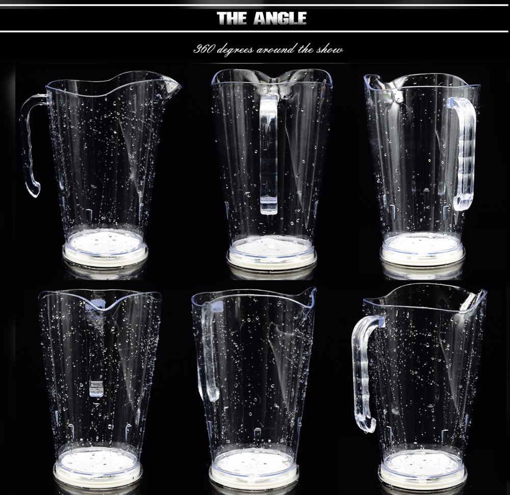 Plastic lighting water jug wholesale with bar