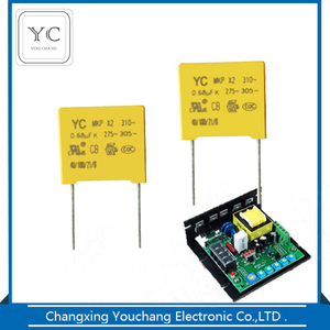 High Quality 0.1uf 275V mkp X2 Metallized Polypropylene square capacitor