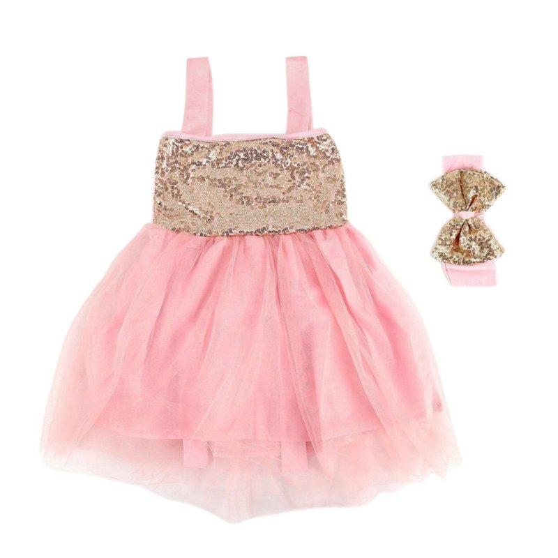 Summer Baby Girl font b Dress b font Princess Sequined Sleeveless Wedding font b Fancy b