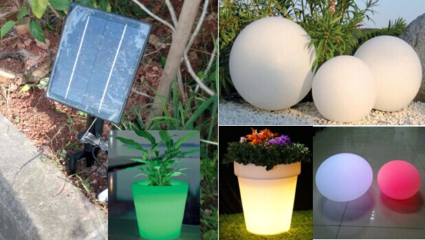 Awesome Solar Charge Led Ball Lights/20cm 60cm Waterproof IP68 Solar Color Changing  Led Ball