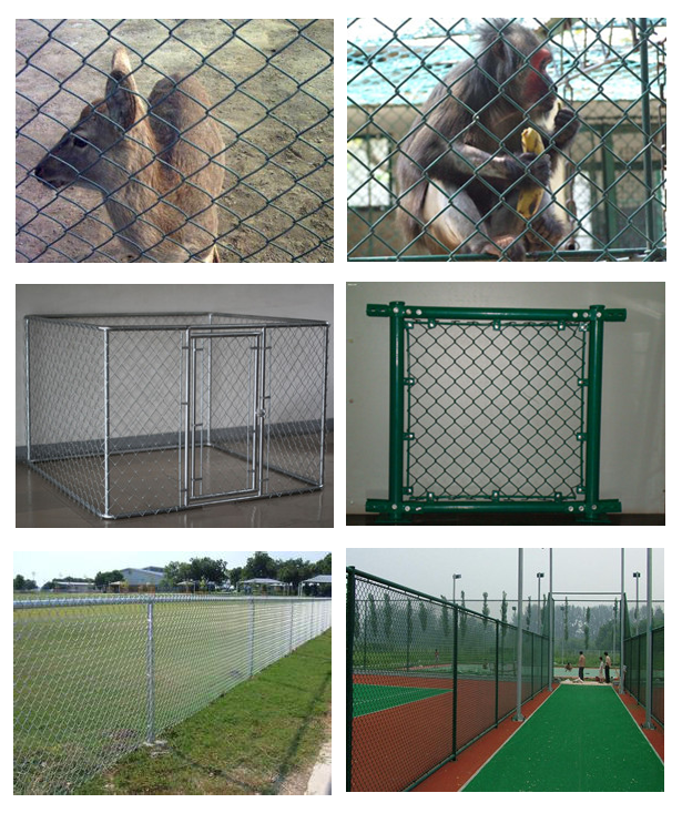 Chain link fence for construction