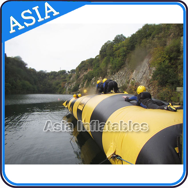 Yellow Inflatable Water Launch Pad, Lake Inflatable Water Blob, Water Blob Jump