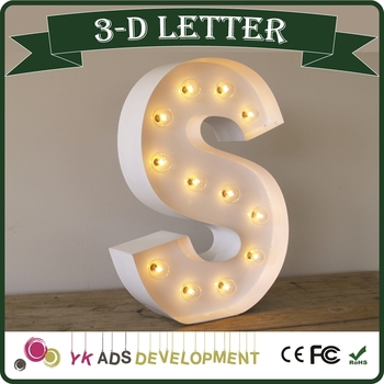 vintage bulb wedding marquee letters lights backlit letter logo customized shape