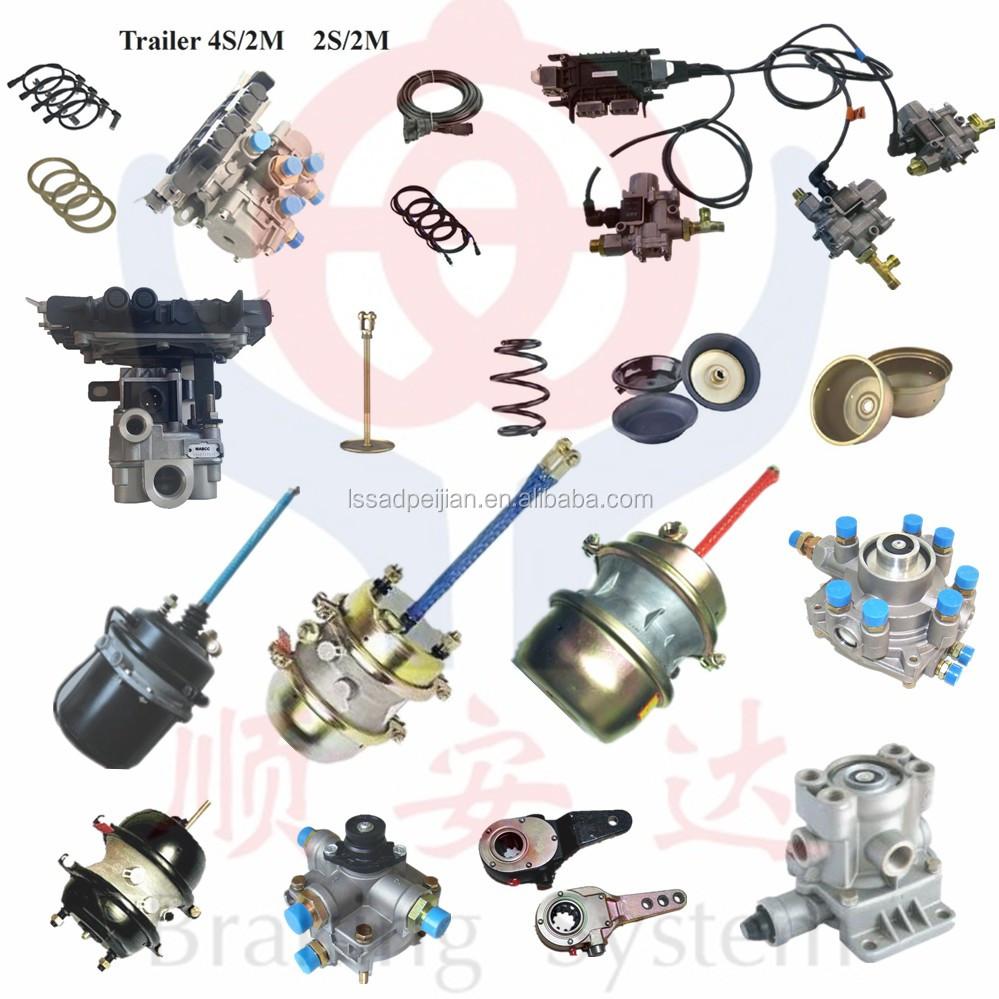 Trailer Air Brake System,Abs,Ebs,Brake Chamber,Brake Valves