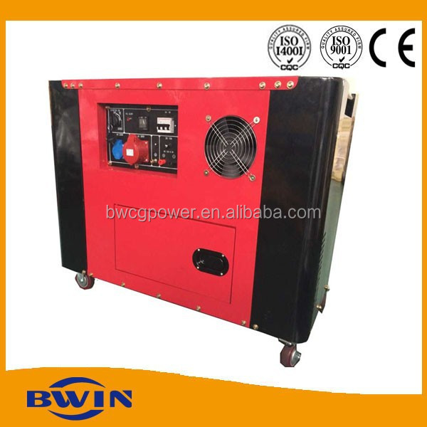 10kva diesel generator electric start air cooled with 2 cylinder engine
